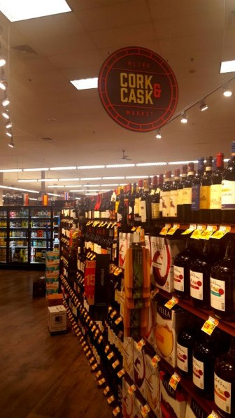 The liquor deparment is no longer separate from the main store.