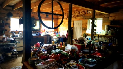 Main kitchen area inside the lodge